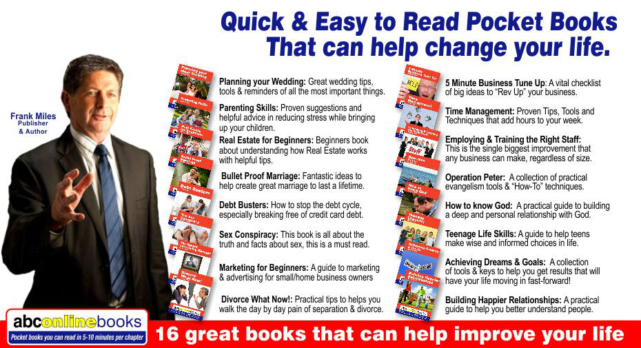 -16 great ABC on-line books that can help improve your life that are Quick & Easy to Read.